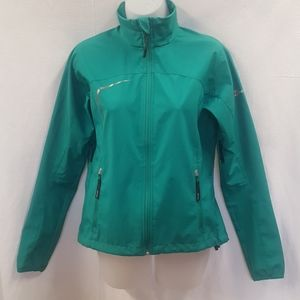 Green windbreaker jacket